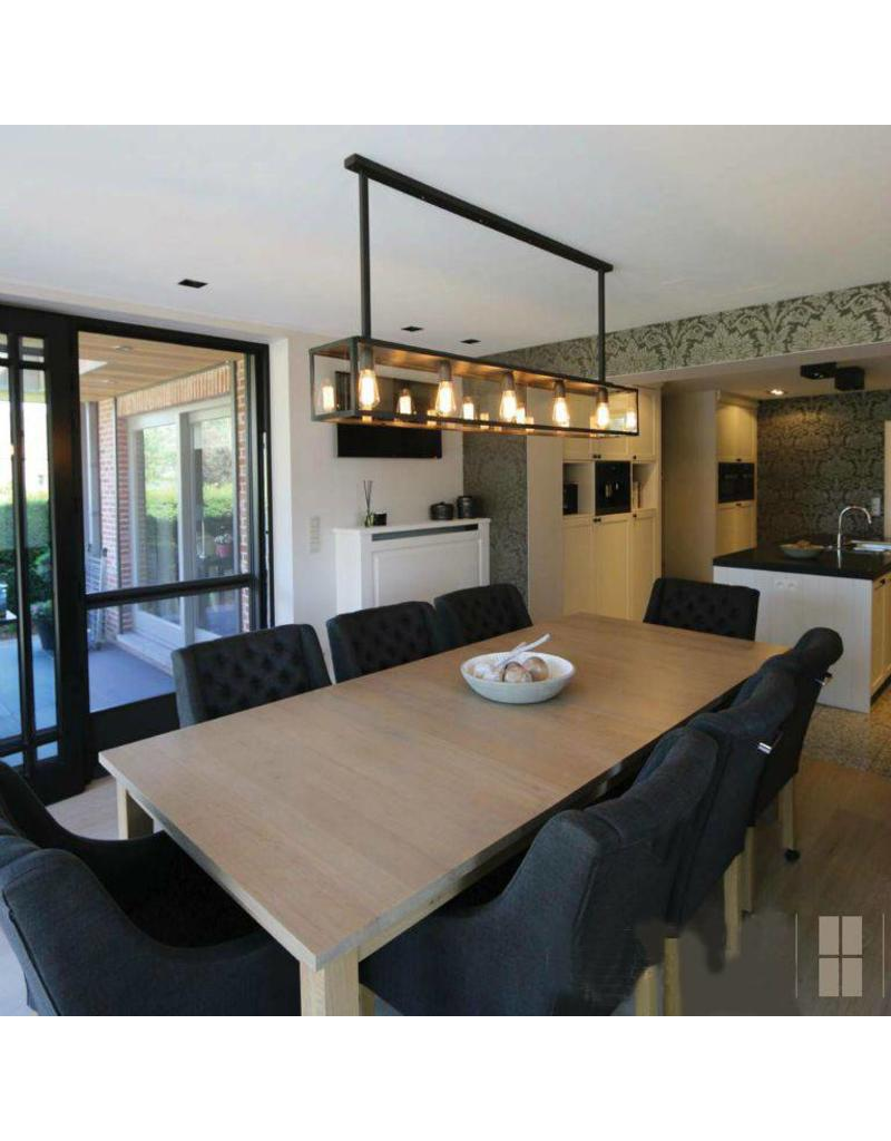 luminaire suspendu rustique verre avec cha ne 150cm long myplanetled. Black Bedroom Furniture Sets. Home Design Ideas