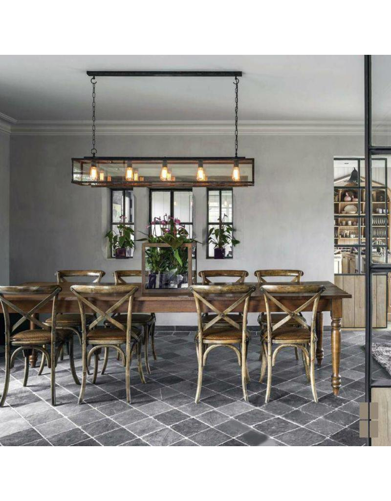 Rustic pendant light with chain dining room 150cm long myplanetled - Rustic dining room lighting ...