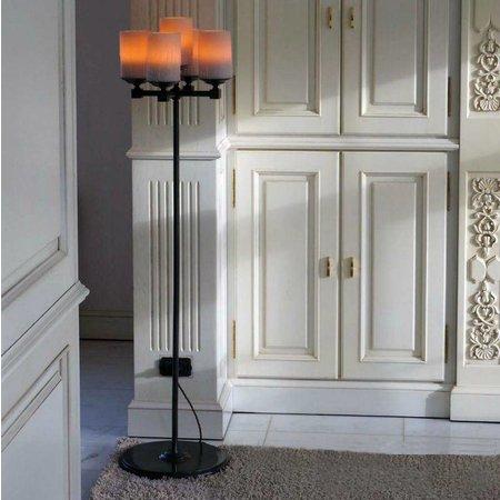Lampadaire sur pied design chandelier bougie x5 140cm
