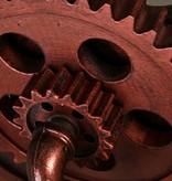 Applique murale industrielle roue et robinet 420mm 2xE27