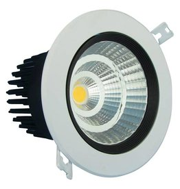 Downlight recessed 5W LED orientable 15°/24°/38°/60° beam