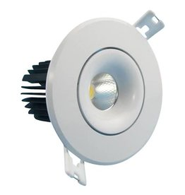 Downlight recessed 7W LED orientable 30° beam 95mm