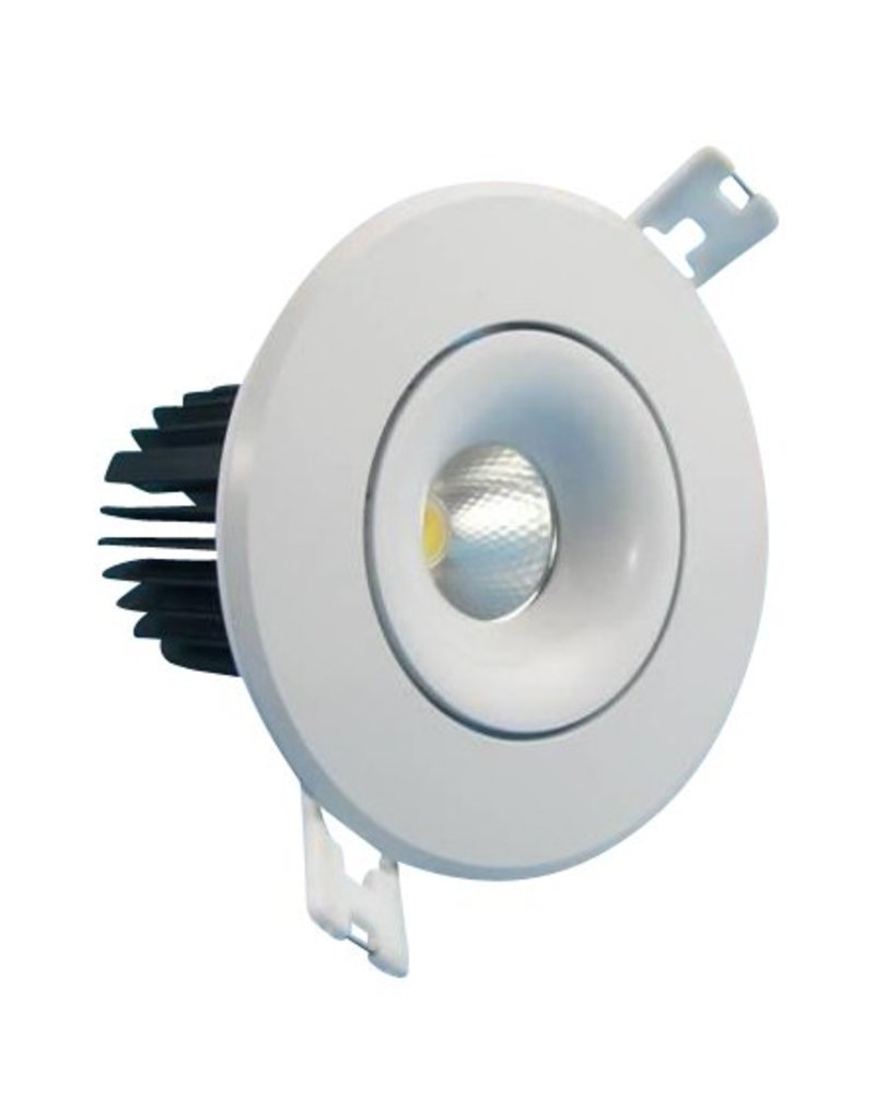 Downlight recessed 7W LED orientable 30° beam 95mm