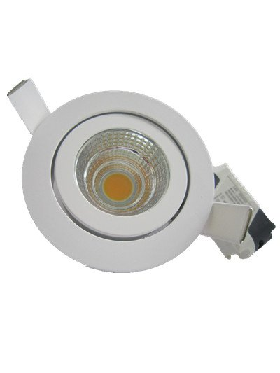Downlight recessed 7W LED grey-white 30°/40°/60°/90° IP45