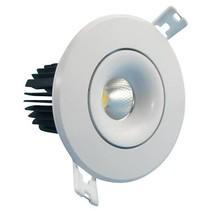 Downlight recessed 10W LED orientable 30° beam 95mm