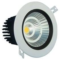 Spot encastrable plafond LED 24W trou 140mm