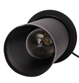 Industrial pendant light with 3 black lamp shades of 25cm