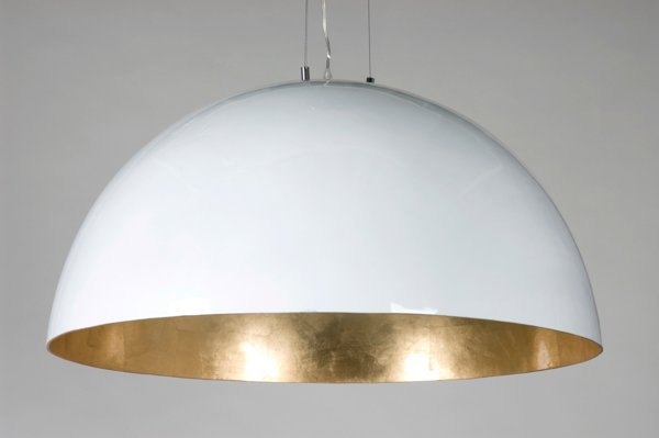 Big Pendant Light Industrial White Black Or Silver 70cm 216