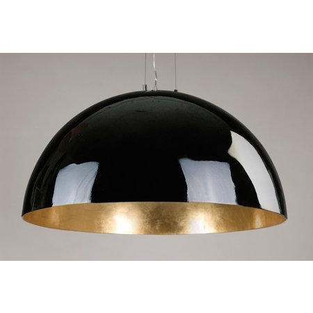 Big pendant light industrial white, black or silver 70cm Ø