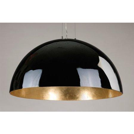 Grand luminaire suspendu noir, blanc ou argent 70cm Ø