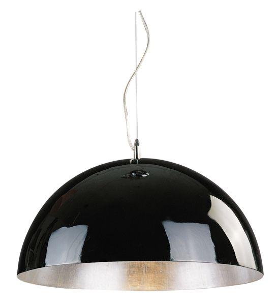 grand luminaire suspendu noir blanc ou argent 70cm myplanetled. Black Bedroom Furniture Sets. Home Design Ideas