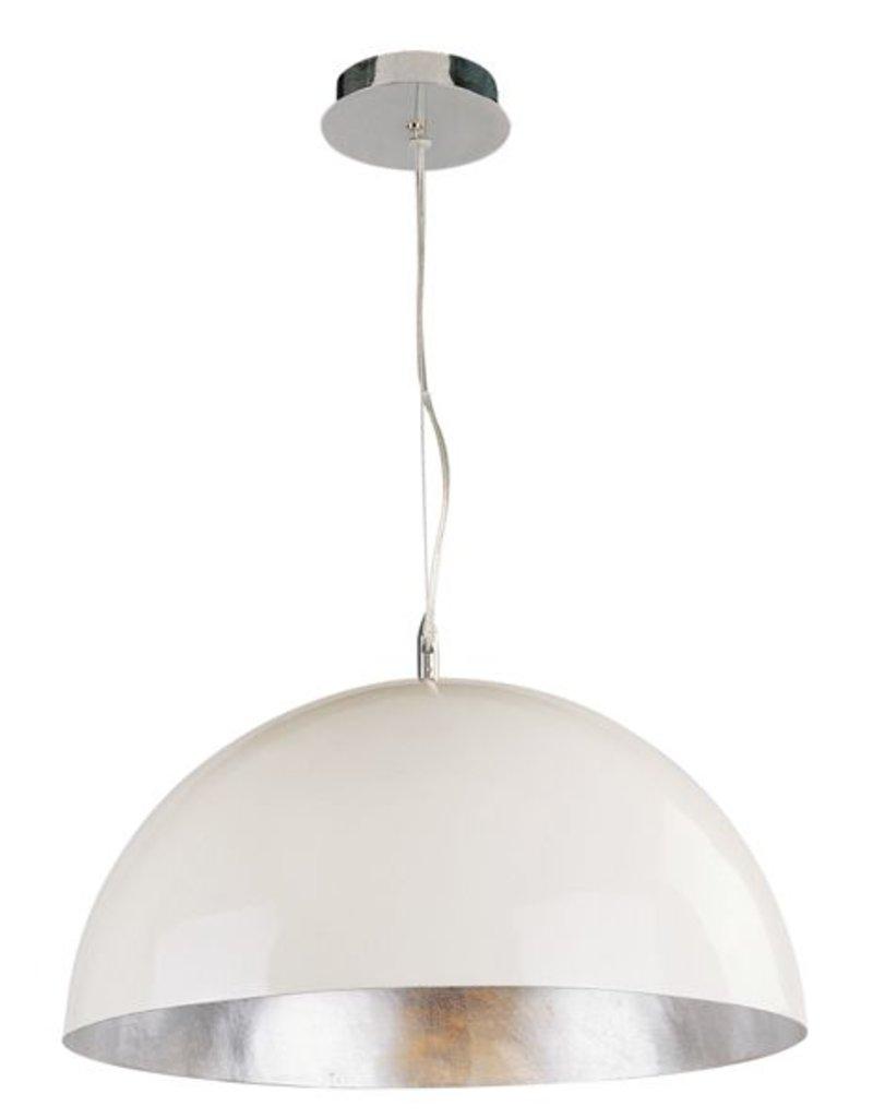 Big pendant light industrial white, black or silver 70cm Ø