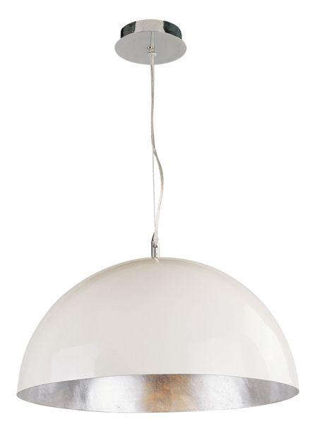 Grand luminaire suspendu noir blanc ou argent 70cm for Luminaire suspendu noir