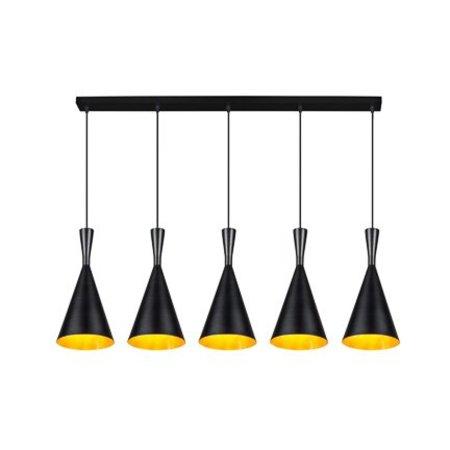 Hanglamp boven eettafel metaal conisch E27x5 1,1m