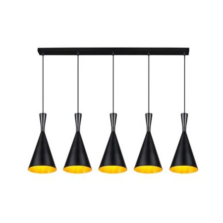 Pendant light dining room black or white E27x5 1,1m