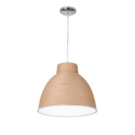 Hanglamp woonkamer papier wit of bruin 50cm Ø