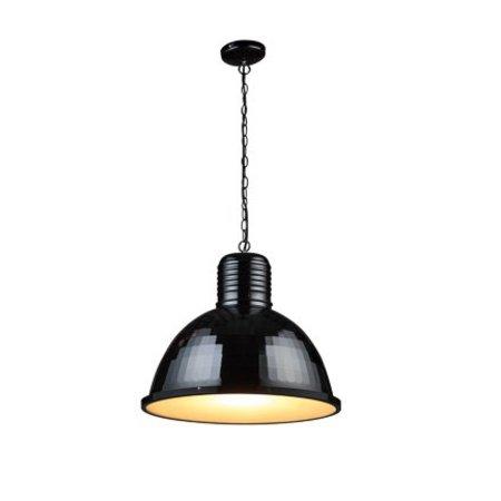 Industrial pendant light white, concrete, black 53cm Ø