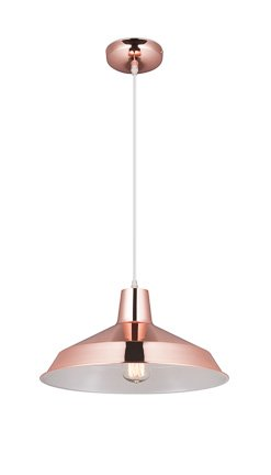 Industriële hanglamp koper, zwart, wit, beton 40cm Ø