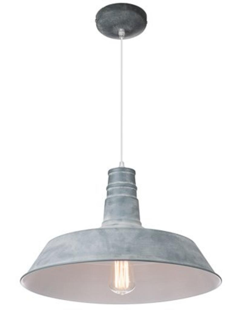 Industrial pendant light black, white, concrete 45cm Ø