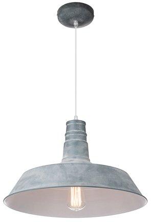 Industriële hanglamp zwart, wit, beton 45cm diameter