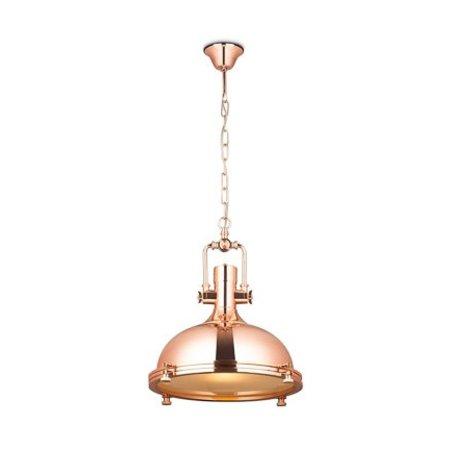 Industrial pendant light chrome, copper or nickel satin 40cm Ø