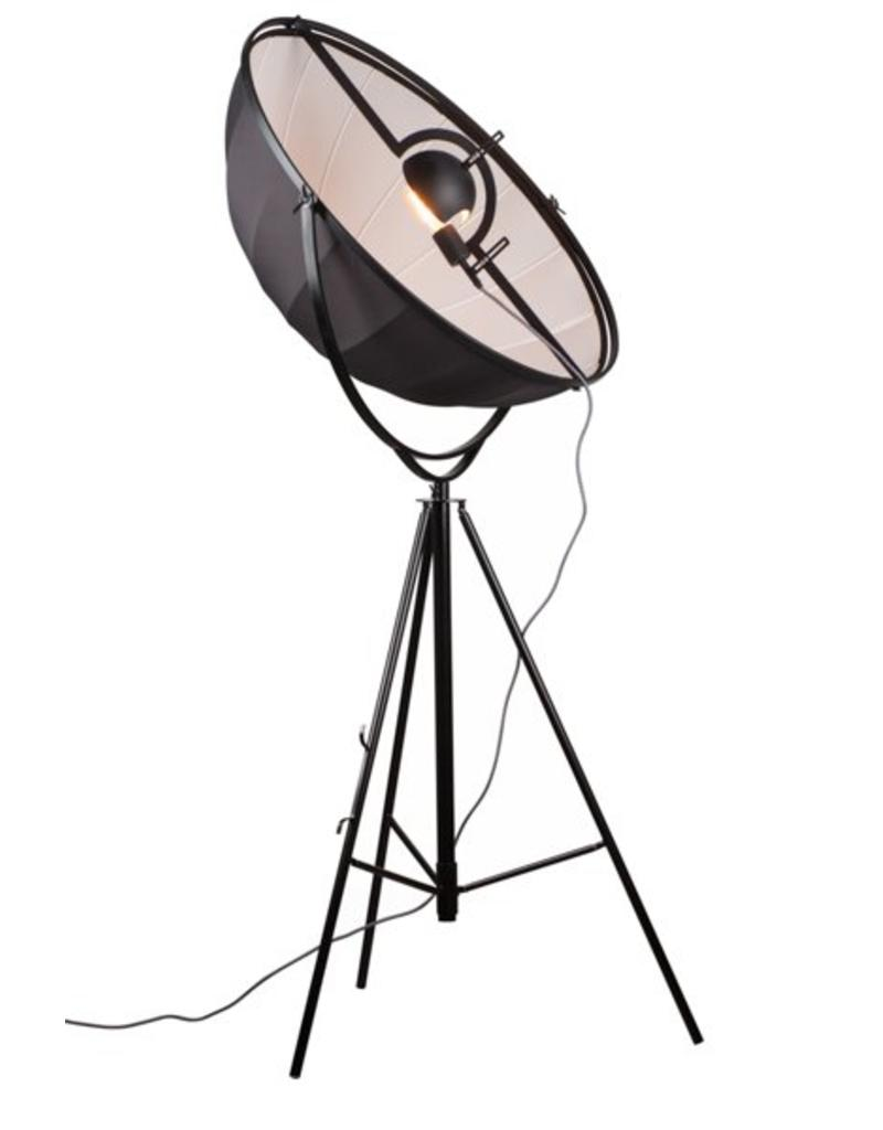 Industri le staande lamp zwart wit 1900mm e27 myplanetled for Industriele staande lamp
