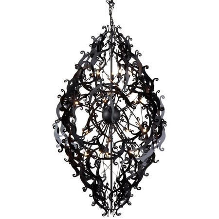 Metal pendant light black, white, grey elegant 150cm H
