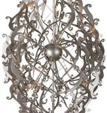 Metal pendant light black, white, grey elegant 150cm H