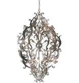Metal pendant light black, white, grey elegant 113cm H