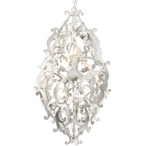 Design hanglamp grijs, zwart, wit sierlijk 89cm H G9x8