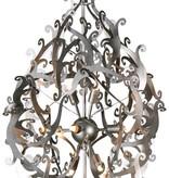 Metal pendant light black, white, grey elegant 89cm H