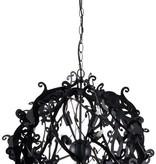 Lustre de luxe boule noir, blanc, gris 51cm Ø