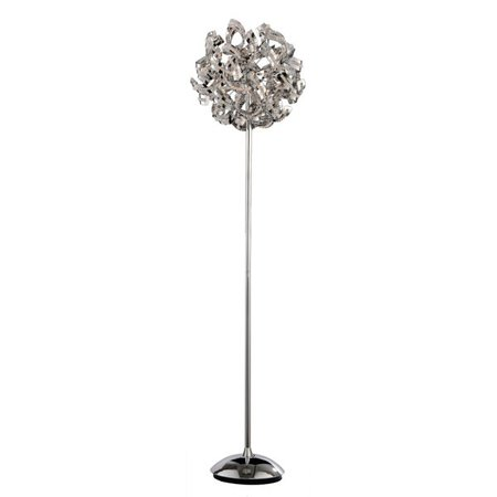 Luxury floor lamp chrome ball with strips 160cm