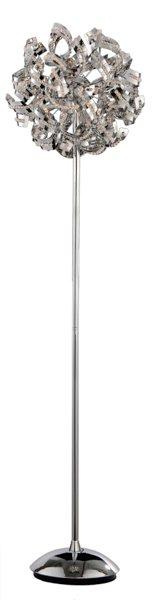 lampadaire de luxe boule chrome bandeau 160cm myplanetled