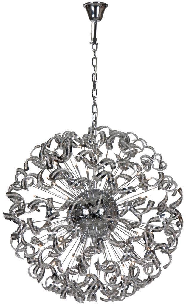 Luxe hanglamp design bol strips 106cm Ø G9x30