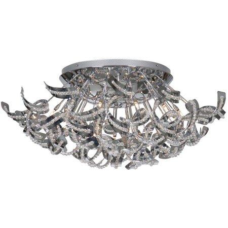 Contemporary ceiling light chrome slings 65cm Ø G9x19