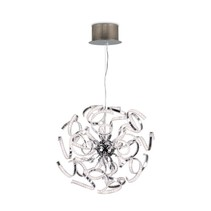 Modern pendant light LED chrome slings 144W