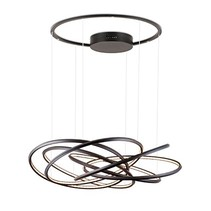 LED hanglamp design ringen wit, zwart, grijs 96W