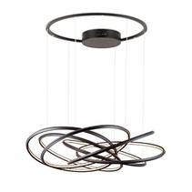 Lustre design bandeaux LED 96W 76cm diamètre