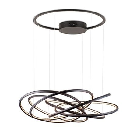 LED pendant light design rings white, black, grey 96W