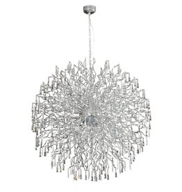 Crystal pendant light ball G4x72 145cm diameter