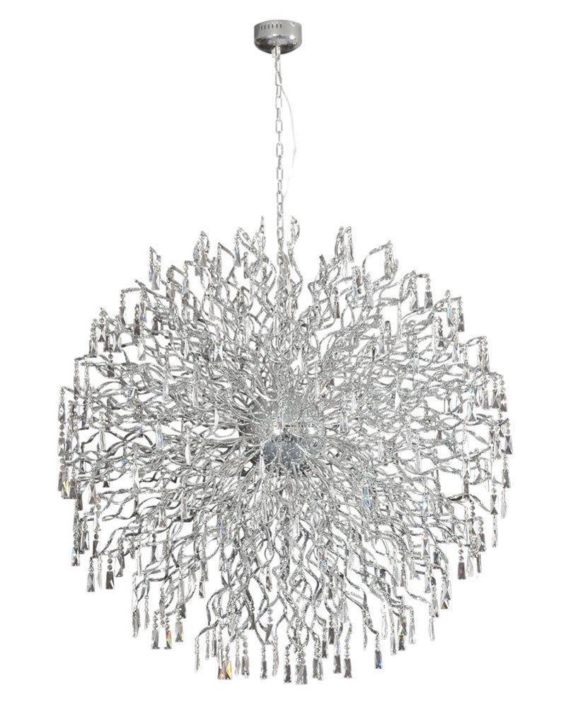 Crystal pendant light ball G4x72 145cm diameter