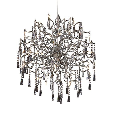 Crystal pendant light ball G4x20 82cm diameter