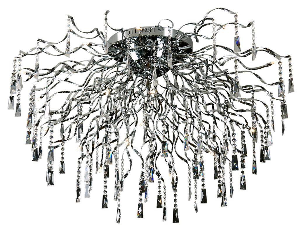 Crystal ceiling light spider G4x22 110cm diameter