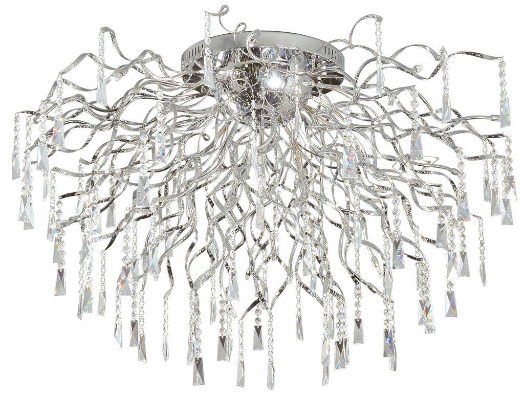 Crystal ceiling light spider G4x16 82cm diameter