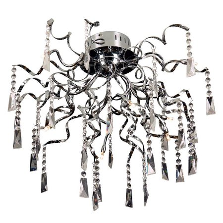 Crystal ceiling light spider G4x8 65cm diameter