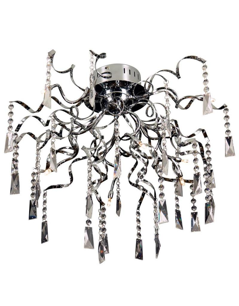 Crystal ceiling light spider G4x8 65cm diameter