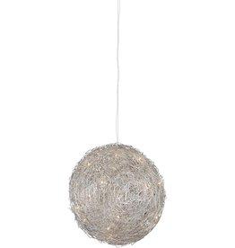 Bol hanglamp ijzerdraad 80cm diameter G4x15