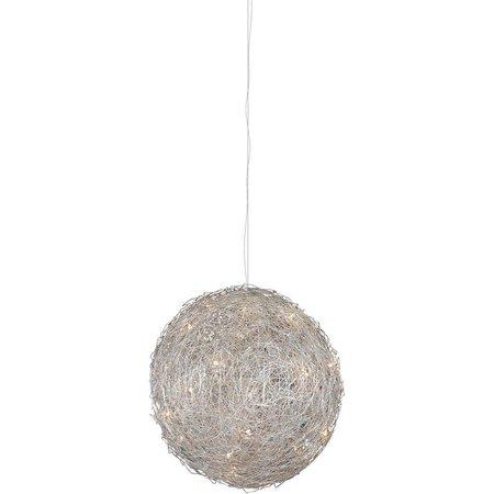 Lustre boule fil de fer 140cm diamètre G4x30