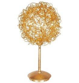 Tafellamp bol staaldraad goud of zilver 35cm Ø